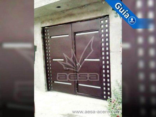 0421-117-porton-moderno-cuadricula-vidrios-horizontales-puerta-integrada