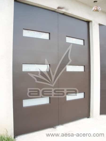 0460-512-porton-minimalista-moderno-vidrios-rectangulares-liso