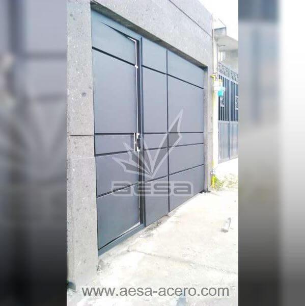 0800-598-porton-moderno-charolas-rectangulares-lineas-diseno-puerta-integrada