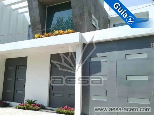 0960-512-porton-minimalista-vidrios-rectangulares-moderno-fachada