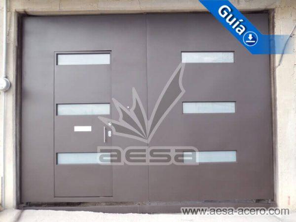 1030-512-porton-minimalista-vidrios-rectangulares-moderno-puerta-integrada