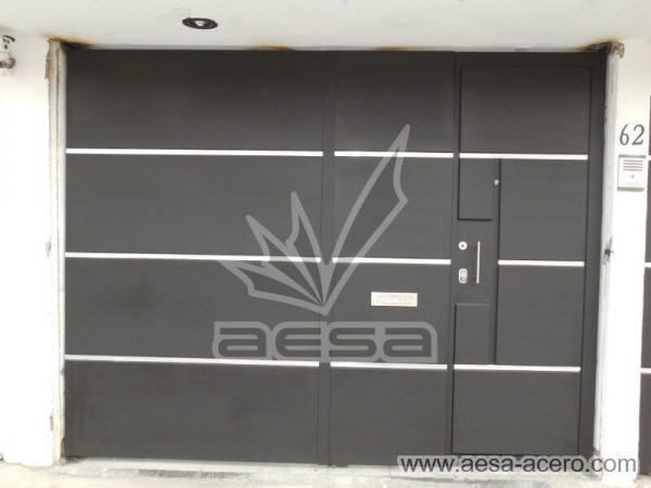 1260-591entalu-porton-moderno-recuadros-rectangulos-charolas-con-tiras-soleras-aluminio-puerta-integrada