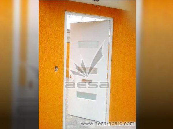 0180-512-puerta-minimalista-moderna-vidrios-rectangulares-seguridad-acero