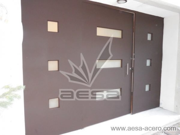 0460-512-puerta-minimalista-moderna-vidrios-rectangulares-fijos-laterales-chocolate-mate