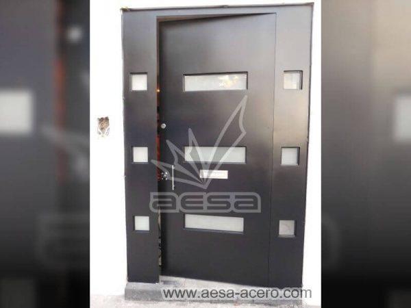 0560-512-puerta-minimalista-moderna-vidrios-rectangulares-seguridad-color-negro